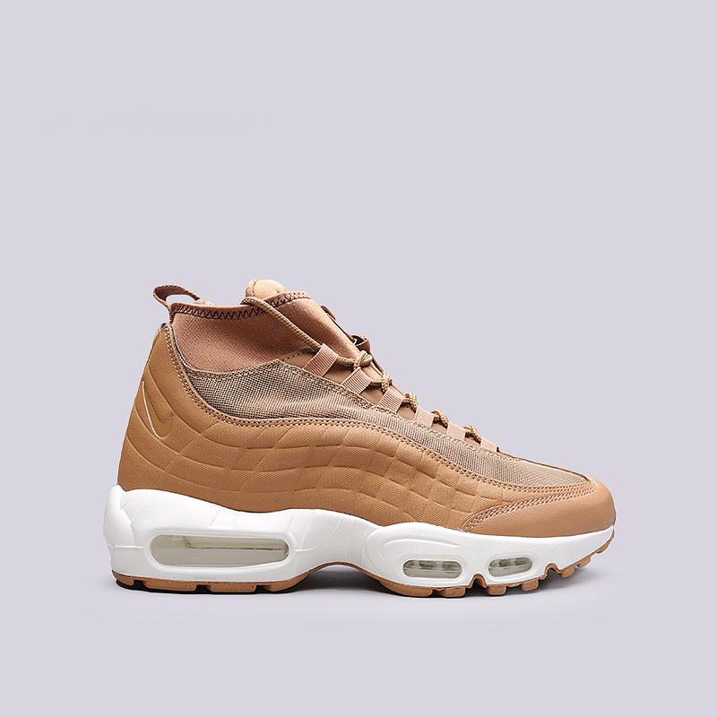 Ботинки Nike Air Max 95 SneakerbootБотинки<br>Кожа, текстиль, синтетика, резина<br><br>Цвет: Бежевый<br>Размеры US: 8;8.5;9;9.5;10;10.5;11;11.5;12;12.5<br>Пол: Мужской