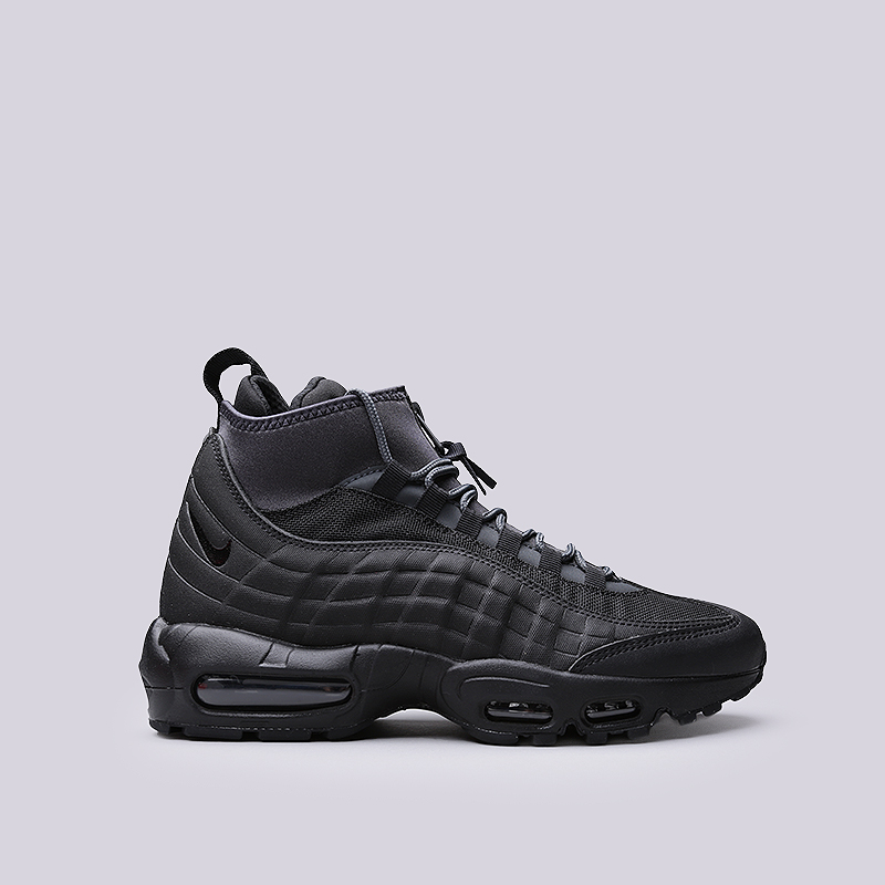 Ботинки Nike Air Max 95 SneakerbootБотинки<br>Кожа, текстиль, синтетика, резина<br><br>Цвет: Черный<br>Размеры US: 8;8.5;9;9.5;10;10.5;11;11.5;12<br>Пол: Мужской