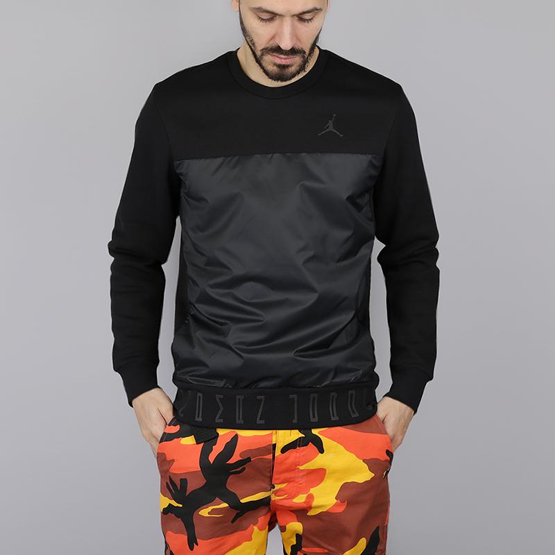 Толстовка Jordan 11 Hybrid CrewТолстовки свитера<br>80% хлопок, 20% полиэстер<br><br>Цвет: Черный<br>Размеры US: M;2XL<br>Пол: Мужской
