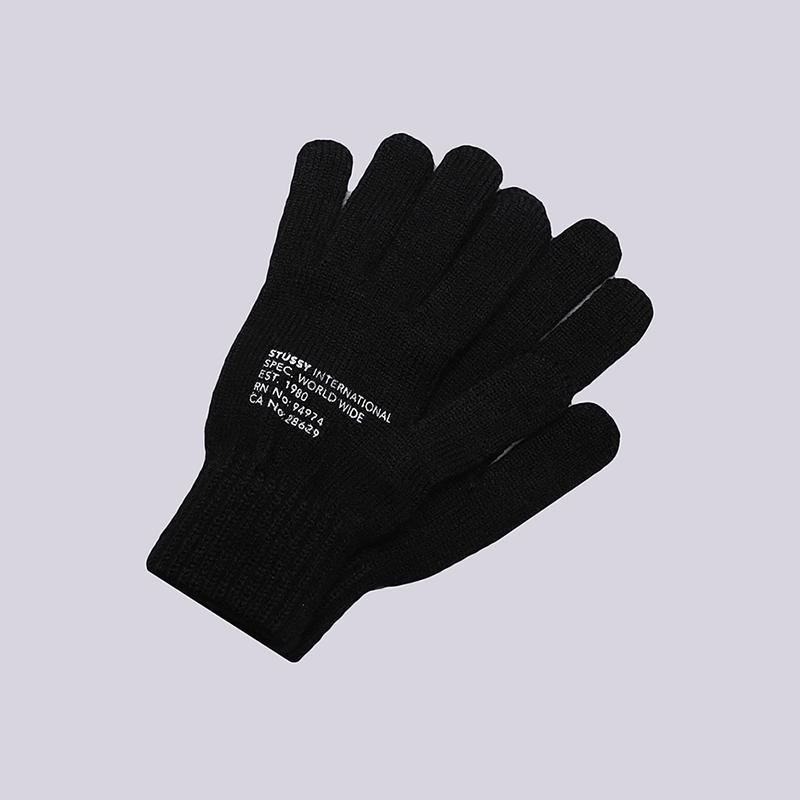 Перчатки Stussy Printed Mil Spec GlovesПерчатки<br>100% акрил<br><br>Цвет: Черный<br>Размеры US: OS