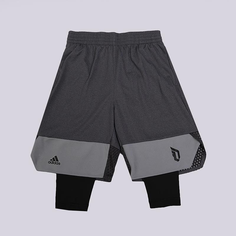 Шорты adidas Dame 2 In 1 ShortШорты<br>100% полиэстер<br><br>Цвет: Серый<br>Размеры UK: S;M;L;XL;2XL<br>Пол: Мужской