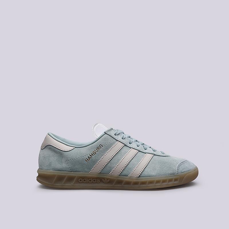 Кроссовки adidas Hamburg WКроссовки lifestyle<br>Кожа, текстиль, резина<br><br>Цвет: Голубой<br>Размеры UK: 5;5.5;6;6.5;7;7.5<br>Пол: Женский