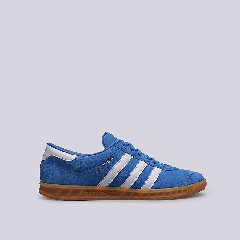 Кроссовки adidas HamburgКроссовки lifestyle<br>Кожа, текстиль, резина<br><br>Цвет: Синий<br>Размеры UK: 8.5;9;11.5<br>Пол: Мужской