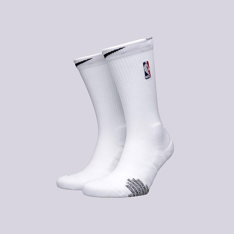 Носки Nike NBA Grip Quick CrewНоски<br>Полиэстер, нейлон, хлопок, эластан<br><br>Цвет: Белый<br>Размеры US: M;L;XL<br>Пол: Мужской