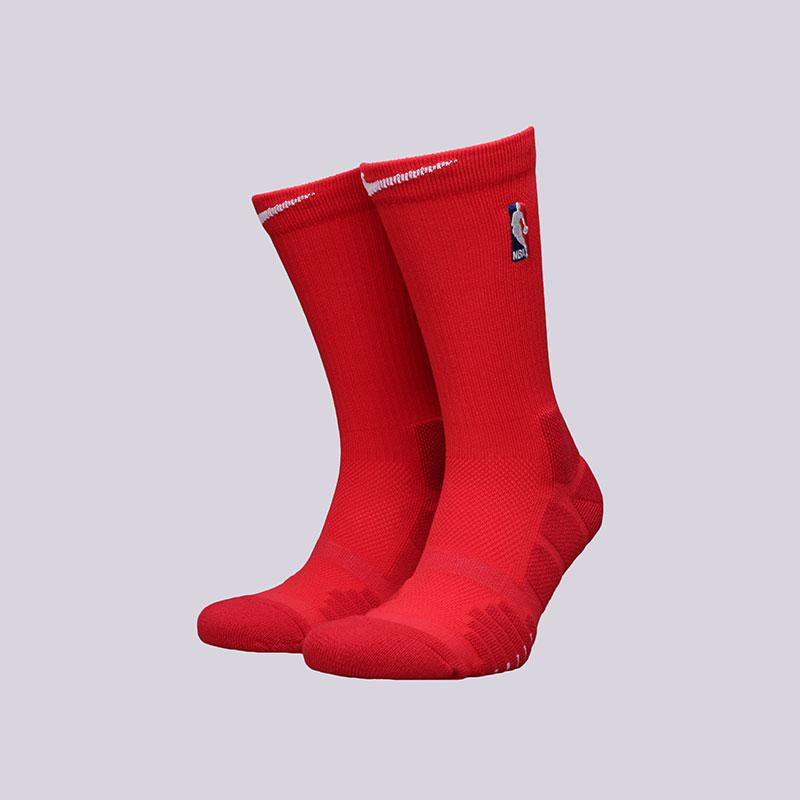 Носки Nike NBA Grip Quick CrewНоски<br>Полиэстер, нейлон, хлопок, эластан<br><br>Цвет: Красный<br>Размеры US: M;L<br>Пол: Мужской