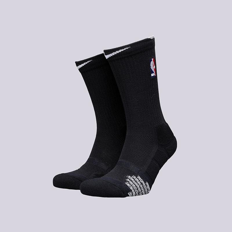 Носки Nike NBA Grip Quick CrewНоски<br>Полиэстер, нейлон, хлопок, эластан<br><br>Цвет: Черный<br>Размеры US: M;L;XL<br>Пол: Мужской