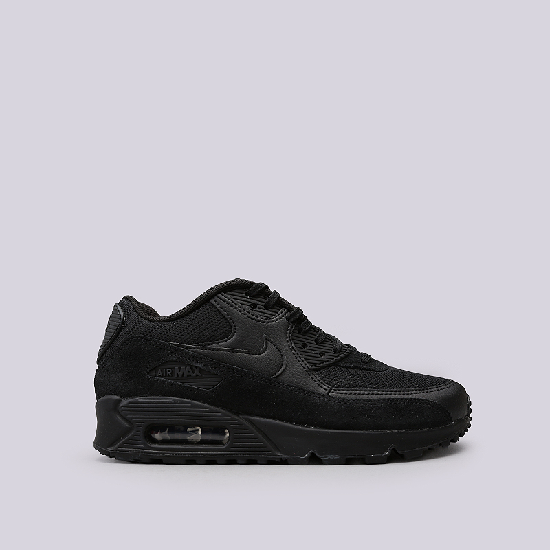 Кроссовки Nike WMNS Air Max 90Кроссовки lifestyle<br>Кожа, синтетика, текстиль, резина<br><br>Цвет: Черный<br>Размеры US: 6;6.5;7;7.5;8;8.5;9<br>Пол: Женский