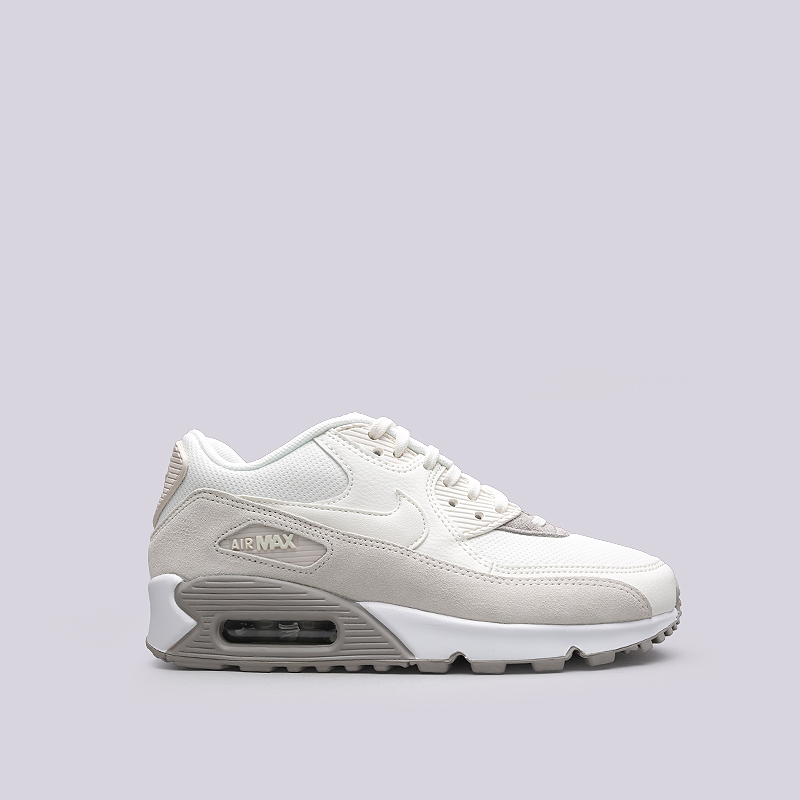 Кроссовки Nike WMNS Air Max 90Кроссовки lifestyle<br>Кожа, текстиль, синтетика, резина<br><br>Цвет: Бежевый<br>Размеры US: 6;6.5;7.5;8;9<br>Пол: Женский