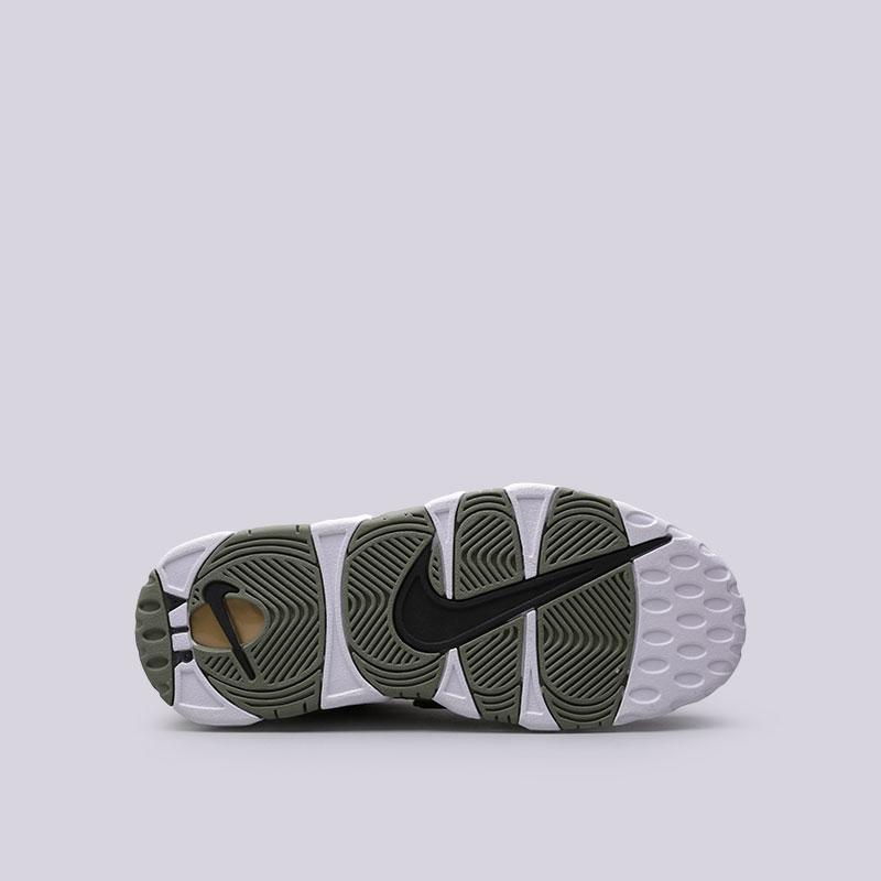 Купить женские зелёные  кроссовки nike wmns air more uptempo в магазинах Streetball изображение - 2 картинки