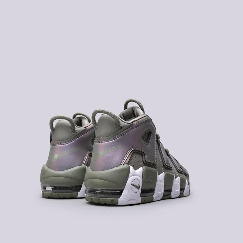 Купить женские зелёные  кроссовки nike wmns air more uptempo в магазинах Streetball изображение - 3 картинки