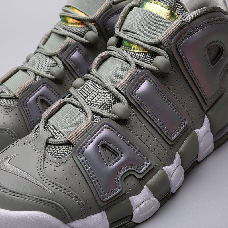 Купить женские зелёные  кроссовки nike wmns air more uptempo в магазинах Streetball изображение - 5 картинки