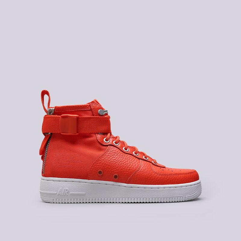 67074e2a мужские оранжевые кроссовки nike sf air force 1 mid 917753-800 - цена,  описание