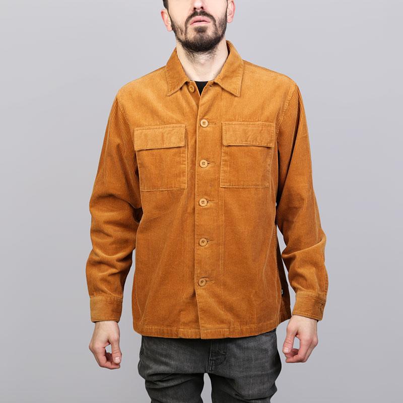 Рубашка Stussy Wide Cord ShirtПоло рубашки<br>Хлопок<br><br>Цвет: Коричневый<br>Размеры US: S;M;L;XL<br>Пол: Мужской