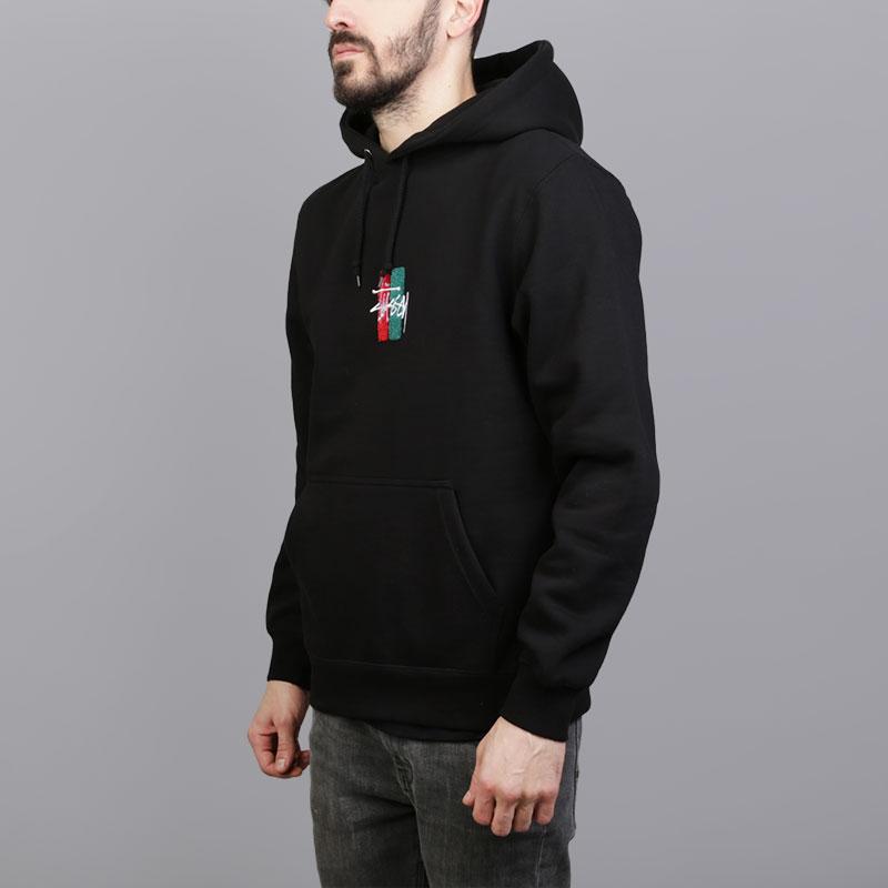 Толстовка Stussy Bars Logo App. HoodТолстовки свитера<br>Хлопок, полиэстер<br><br>Цвет: Черный<br>Размеры US: S;M;L;XL<br>Пол: Мужской