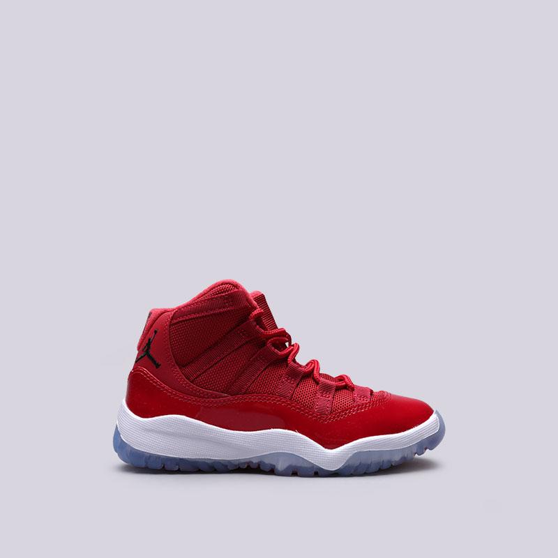 Кроссовки Jordan XI Retro BPОбувь детская<br>Кожа, текстиль, резина<br><br>Цвет: Красный<br>Размеры US: 1.5Y;10.5C;11.5C;12.5C;13.5C;13C;1Y;2.5Y;2Y;3Y<br>Пол: Детский