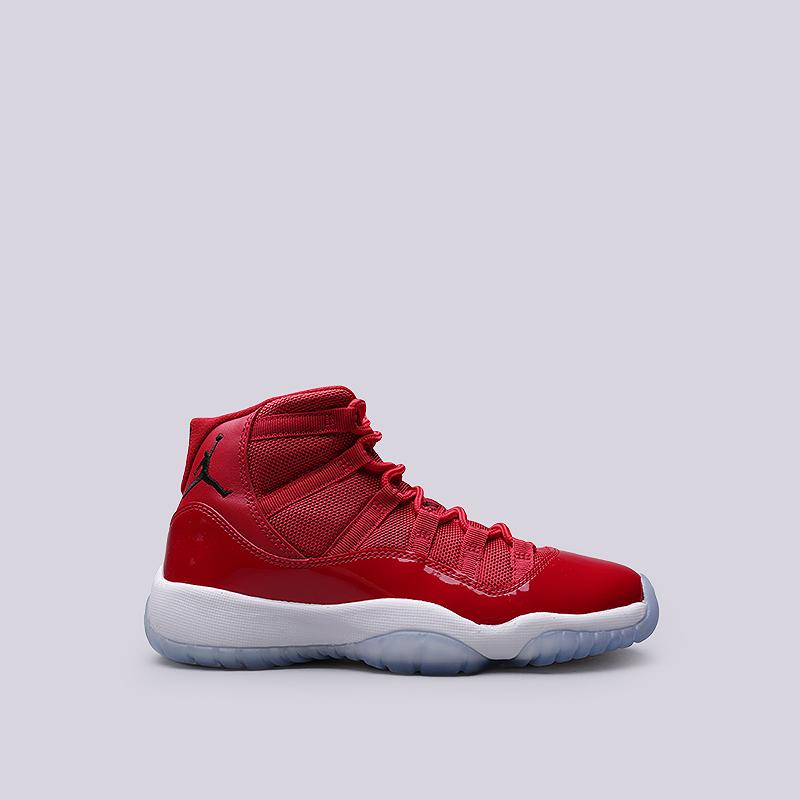 Кроссовки Jordan XI Retro BGКроссовки lifestyle<br>Кожа, текстиль, резина<br><br>Цвет: Красный<br>Размеры US: 3.5Y;4.5Y;4Y;5.5Y;5Y;6.5Y;6Y;7Y<br>Пол: Женский