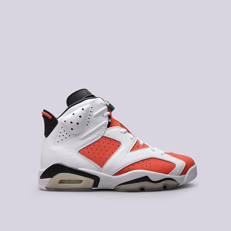 Кроссовки Jordan VI RetroКроссовки lifestyle<br>Кожа, синтетика, текстиль, резина<br><br>Цвет: Белый, оранжевый<br>Размеры US: 8;8.5<br>Пол: Мужской