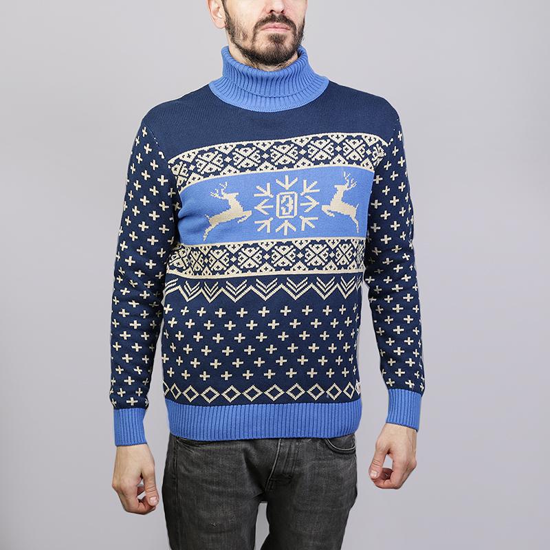 Свитер Запорожец heritage DeerТолстовки свитера<br>100% хлопок<br><br>Цвет: Синий<br>Размеры : M;L<br>Пол: Мужской