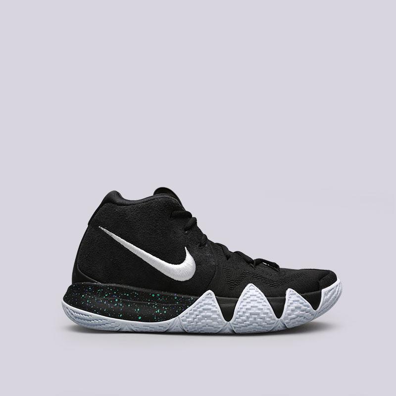 Кроссовки Nike Kyrie 4Кроссовки баскетбольные<br>Синтетика, текстиль, резина<br><br>Цвет: Чёрный<br>Размеры US: 8;8.5;12;14;15;16;17<br>Пол: Мужской