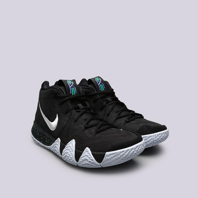 Купить мужские чёрные  кроссовки nike kyrie 4 в магазинах Streetball изображение - 4 картинки