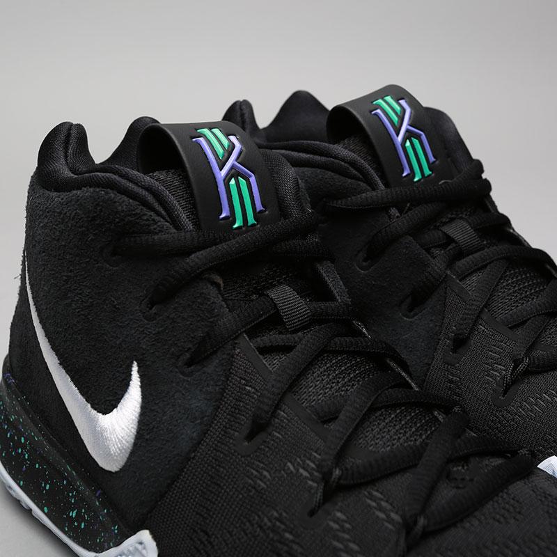 Купить мужские чёрные  кроссовки nike kyrie 4 в магазинах Streetball изображение - 5 картинки