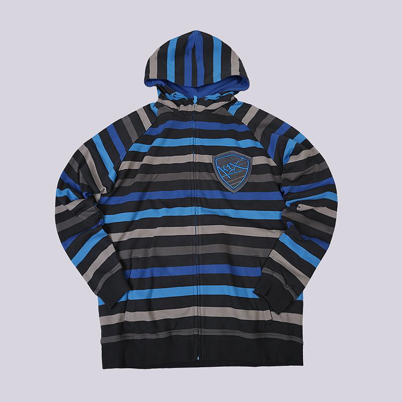 Толстовка K1X Thriller Yarn Dye Zipper HoodyТолстовки свитера<br>100% хлопок<br><br>Цвет: Синий<br>Размеры US: 3XL<br>Пол: Мужской