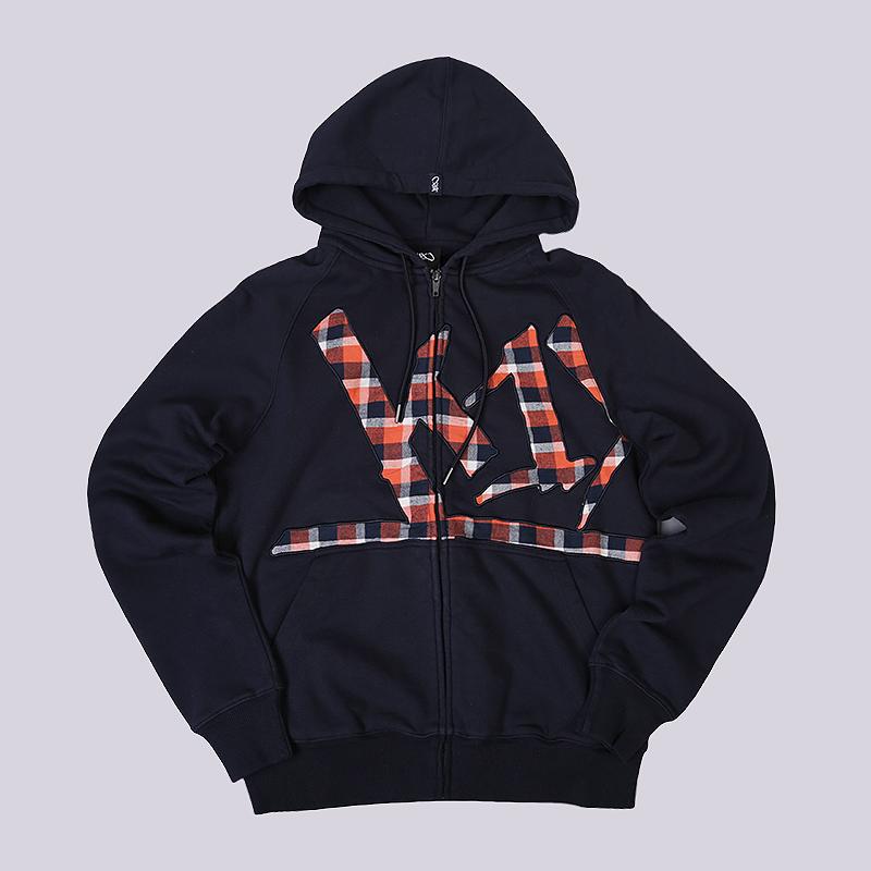 Толстовка K1X Wrap Around Check HoodyТолстовки свитера<br>70% хлопок, 30% полиэстер<br><br>Цвет: Синий<br>Размеры US: S;M<br>Пол: Мужской