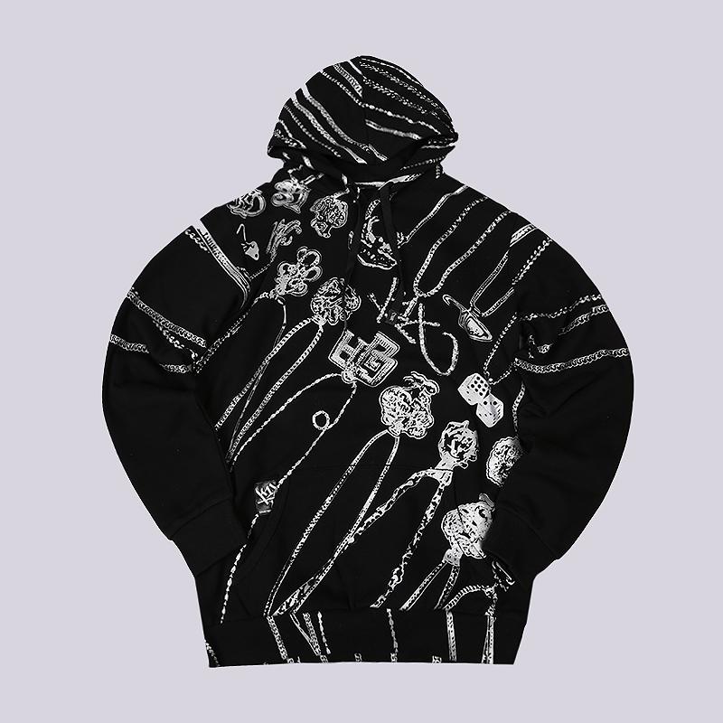 Толстовка K1X Let Your Chain Hang Low HoodyТолстовки свитера<br>70% хлопок, 30% полиэстер<br><br>Цвет: Черный<br>Размеры US: XLT<br>Пол: Мужской