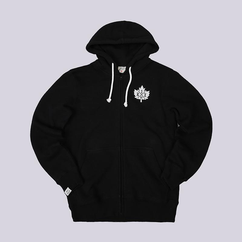 Толстовка K1X Leaf Crest Zipper HoodyТолстовки свитера<br>80% хлопок, 20% полиэстер<br><br>Цвет: Черный<br>Размеры US: S<br>Пол: Мужской