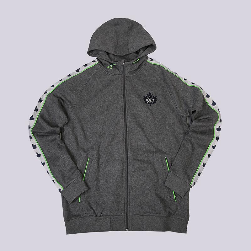 Толстовка K1X Core Leaf Panel Zipper HoodyТолстовки свитера<br>50% хлопок, 50% полиэстер<br><br>Цвет: Серый<br>Размеры US: 2XL<br>Пол: Мужской