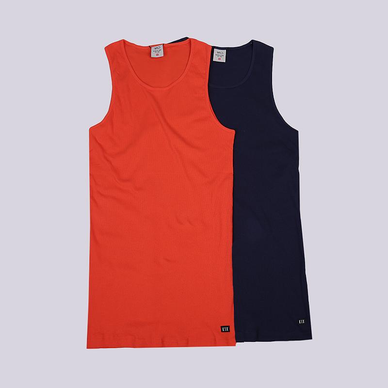 Майка K1X Authentic Wifebeater F3Безрукавки<br>80% хлопок, 20% полиэстер<br><br>Цвет: Синий, оранжевый<br>Размеры US: XL;3XL<br>Пол: Мужской