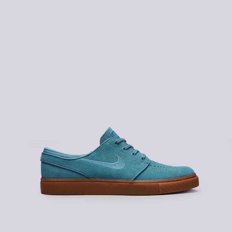Кроссовки Nike SB Zoom Stefan JanoskiКроссовки lifestyle<br>Кожа, текстиль, резина<br><br>Цвет: Синий<br>Размеры US: 8;8.5;9;9.5;10;10.5;11;11.5;12<br>Пол: Мужской