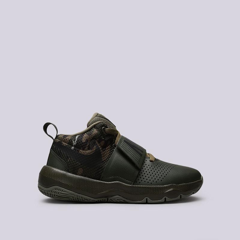 Кроссовки Nike Team Hustle D 8 (GS)Кроссовки баскетбольные<br>Кожа, синтетика, текстиль, резина<br><br>Цвет: Зелёный<br>Размеры US: 4.5Y;4Y;5Y;6.5Y;6Y;7Y<br>Пол: Женский