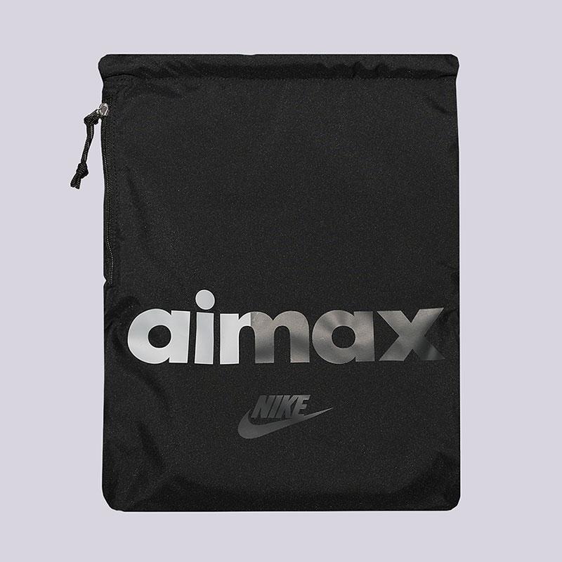 Мешок Nike Heritage Gymsack 13LСумки, рюкзаки<br>Полиэстер<br><br>Цвет: Черный<br>Размеры US: OS