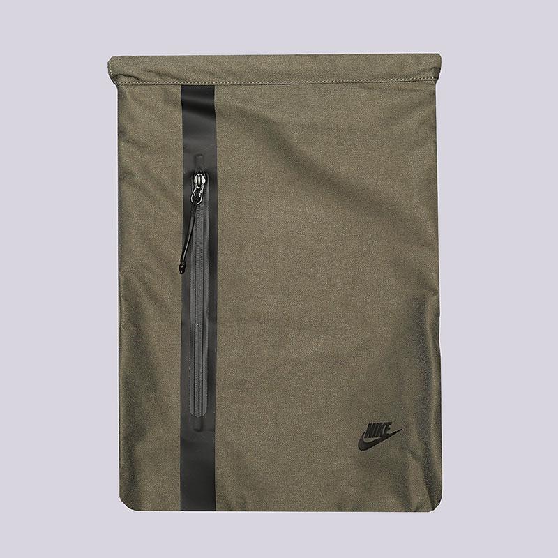 Мешок Nike Tech Gymsack 13LСумки, рюкзаки<br>Полиэстер<br><br>Цвет: Зеленый<br>Размеры US: OS