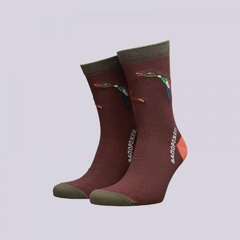 мужские коричневые  носки запорожец heritage утка большая Утка бол-коричн - цена, описание, фото 1