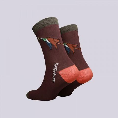 мужские коричневые  носки запорожец heritage утка большая Утка бол-коричн - цена, описание, фото 2
