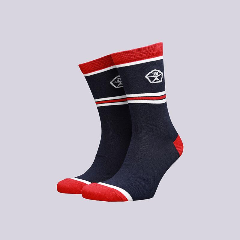 мужские синие  носки запорожец heritage полосы Полосы 1-синий - цена, описание, фото 1