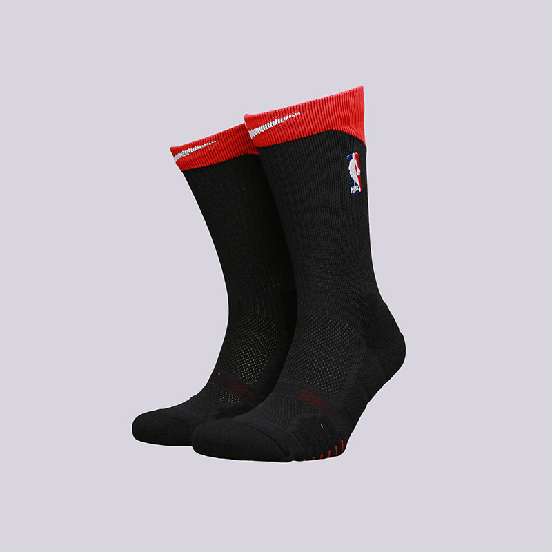 мужские черные  носки nike elite quick crew SX6361-010 - цена, описание, фото 1