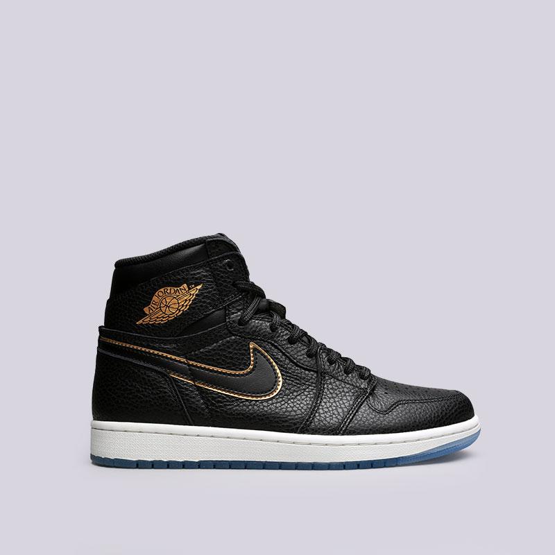 Кроссовки Jordan Air Jordan 1 RetroКроссовки lifestyle<br>Кожа, синтетика, текстиль, резина<br><br>Цвет: Черный<br>Размеры US: 8;8.5;9;9.5;10;10.5;11;12.5;13;15<br>Пол: Мужской
