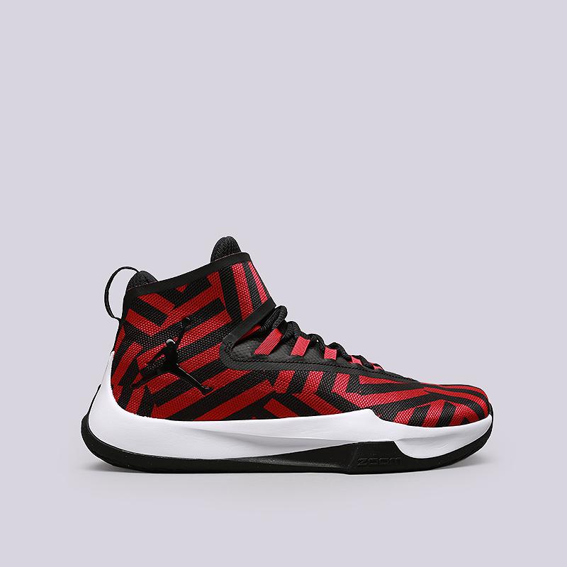Кроссовки Jordan Fly UnlimitedКроссовки баскетбольные<br>Текстиль, резина, пластик<br><br>Цвет: Черный, красный<br>Размеры US: 8;8.5;9;9.5;11;11.5;14<br>Пол: Мужской