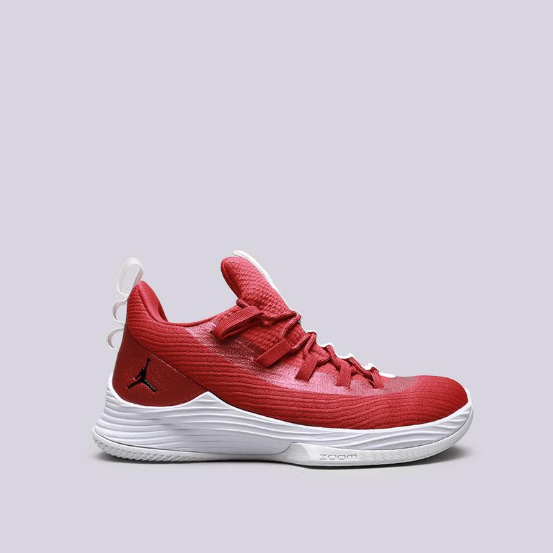 Кроссовки Jordan Ultra Fly 2 LowКроссовки баскетбольные<br>Текстиль, синтетика, резина<br><br>Цвет: Красный<br>Размеры US: 8;8.5;9;9.5;10;12.5<br>Пол: Мужской