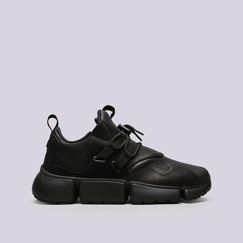 Кроссовки Nike Pocketknife DM LTRКроссовки lifestyle<br>Кожа, текстиль, резинак<br><br>Цвет: Черный<br>Размеры US: 9;10;10.5;11.5;12<br>Пол: Мужской