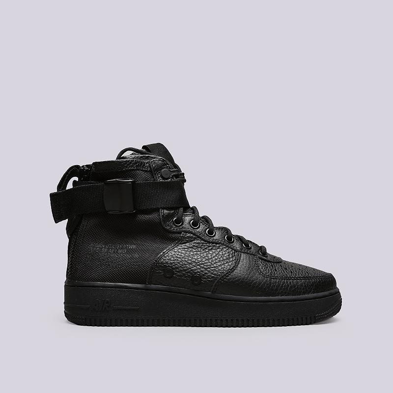 Кроссовки Nike SF Air Force 1 MidКроссовки lifestyle<br>Кожа, текстиль, резина<br><br>Цвет: Черный<br>Размеры US: 8;8.5;9;9.5;10;10.5;11;11.5;12<br>Пол: Мужской