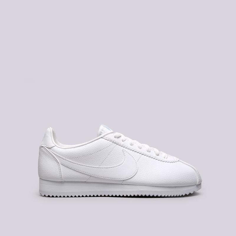 Кроссовки Nike Classic Cortez LeatherКроссовки lifestyle<br>Кожа, синтетика, текстиль, резина<br><br>Цвет: Белый<br>Размеры US: 8.5;9;9.5;10;10.5;11;11.5;12<br>Пол: Мужской