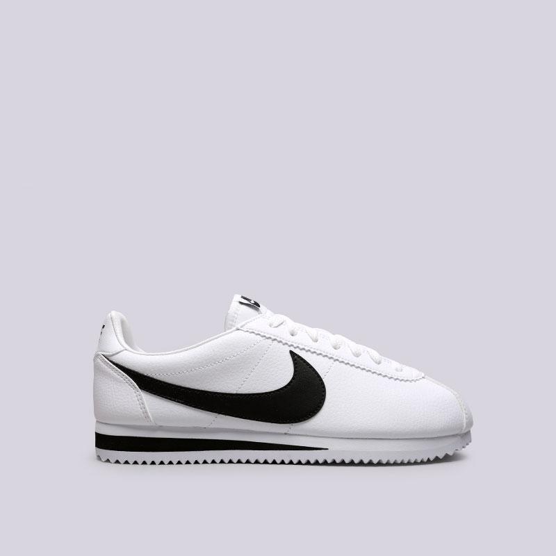 Кроссовки Nike Classic Cortez LeatherКроссовки lifestyle<br>Кожа, синтетика, текстиль, резина<br><br>Цвет: Белый<br>Размеры US: 8;8.5;9;9.5;10;10.5;11;11.5;12<br>Пол: Мужской