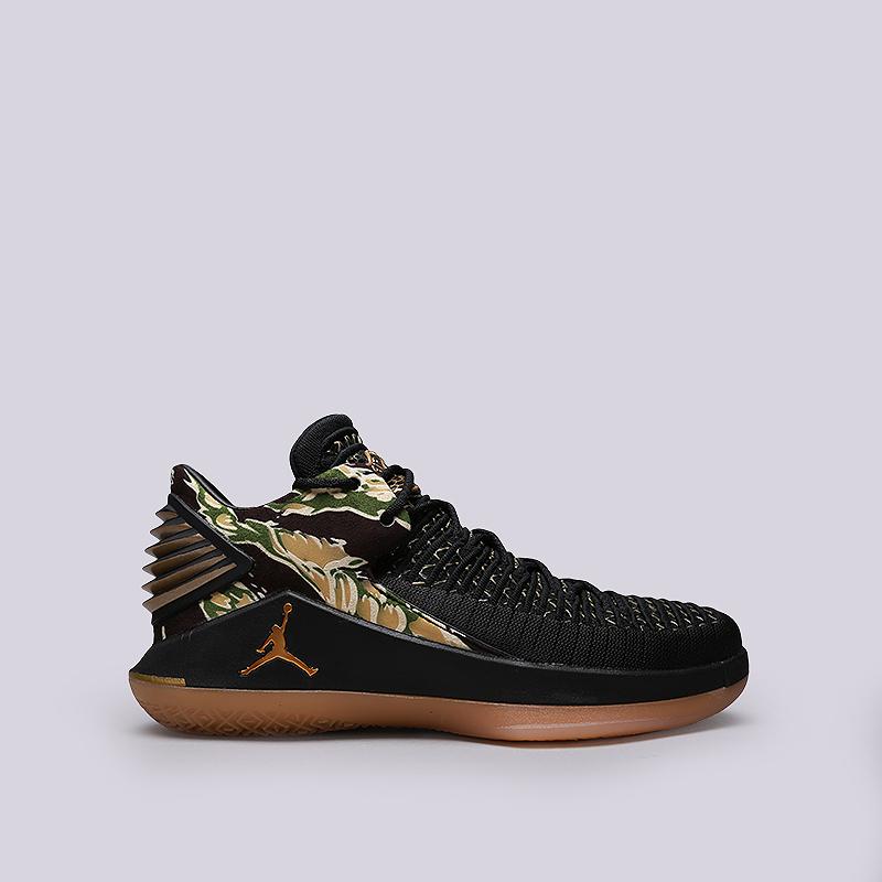 Кроссовки Jordan XXXII LowКроссовки баскетбольные<br>Текстиль, резина, пластик<br><br>Цвет: Черный, зеленый<br>Размеры US: 9;10;11.5;12<br>Пол: Мужской