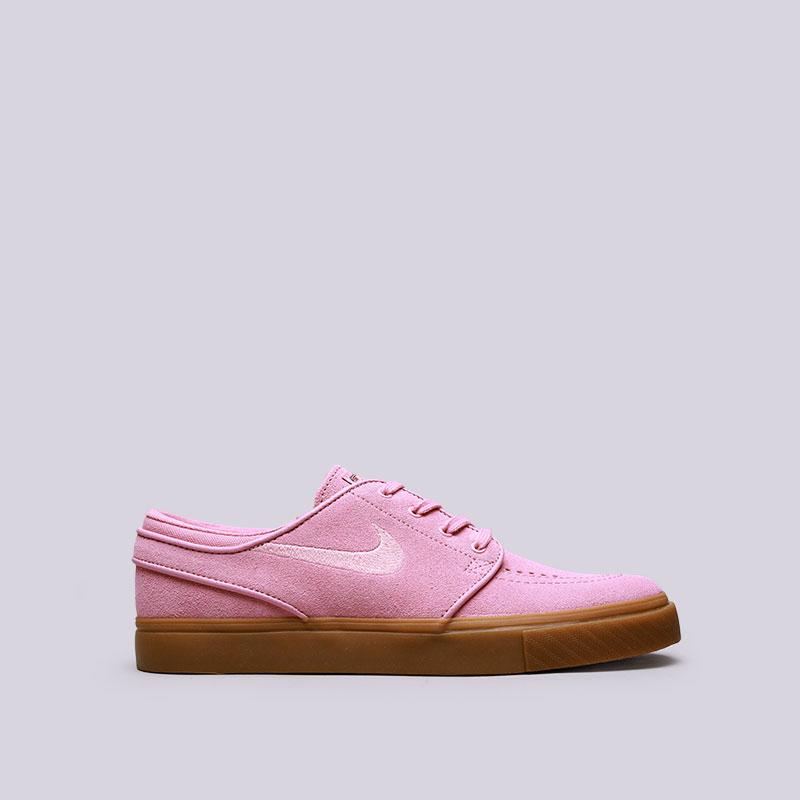 Кроссовки Nike SB Zoom Stefan JanoskiКроссовки lifestyle<br>Кожа, текстиль, резина<br><br>Цвет: Розовый<br>Размеры US: 6;6.5;7;7.5;8;8.5;9;9.5;10.5;11