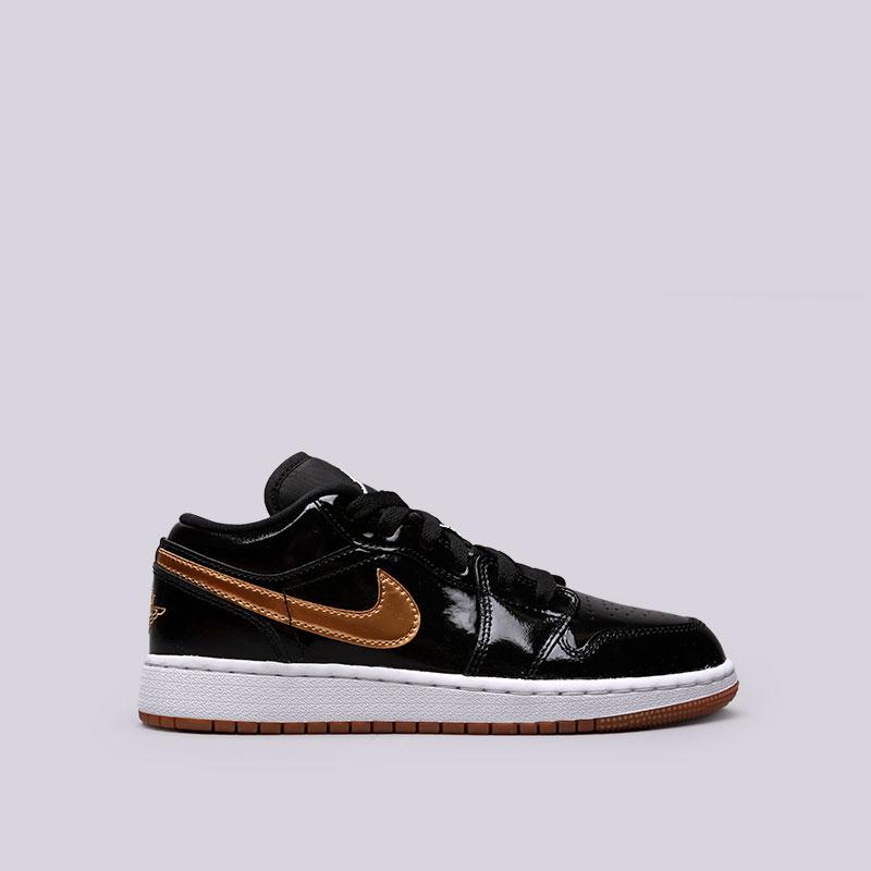 Кроссовки Jordan 1 Low GGКроссовки lifestyle<br>Кожа, синтетика, текстиль, резина<br><br>Цвет: Черный<br>Размеры US: 3.5Y;4Y;6.5Y<br>Пол: Женский