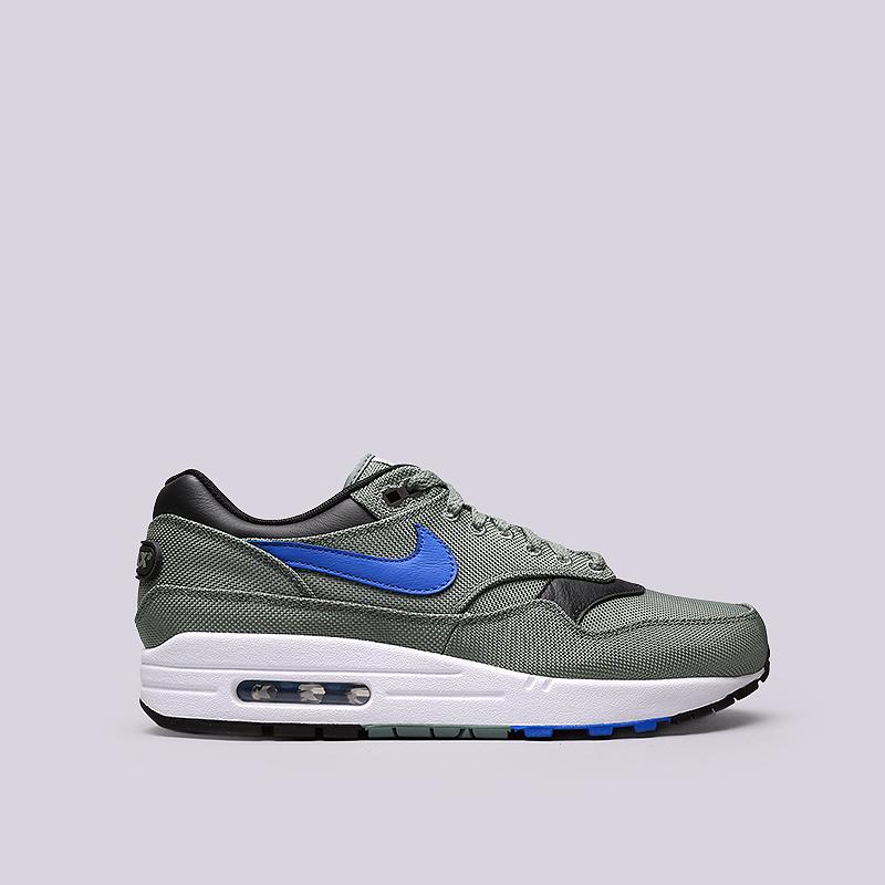 Кроссовки Nike Air Max 1 PremiumКроссовки lifestyle<br>Кожа, текстиль, резина<br><br>Цвет: Зеленый<br>Размеры US: 8;8.5;9;9.5;10;10.5;11;11.5;12<br>Пол: Мужской